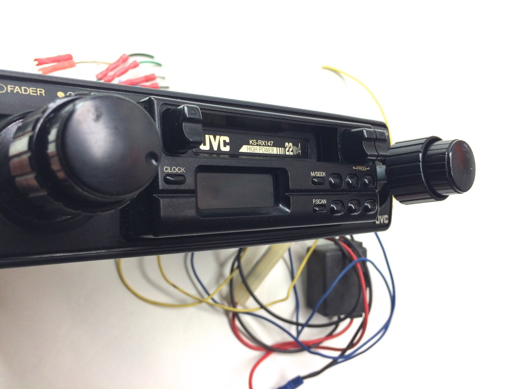 jvc car stereo cassette am fm tuner radio receiver vintage. Black Bedroom Furniture Sets. Home Design Ideas